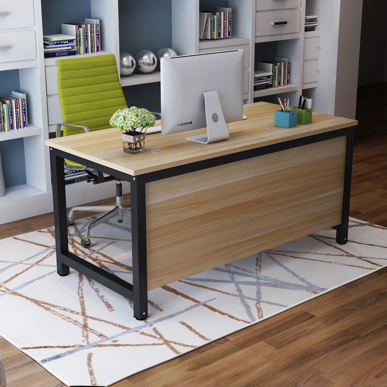 簡単な現代のデスクトップ、家庭用デスク、デスク、スタッフデスク、シングル、簡易仲介テーブル