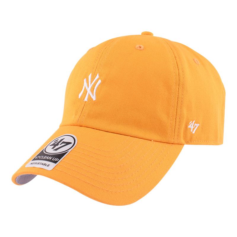 47黄色小标软顶帽子ny嘻哈棒球帽女mlb洋基队经典刺绣la鸭舌帽男