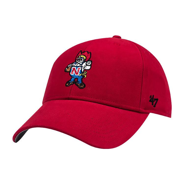 mlb美国47BRAND棒球帽新年圣诞红色刺绣卡通图案弯沿帽女鸭舌帽子