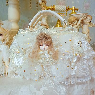 Summer 2019 chic Lolita baby bag lace bow handbag made by cos