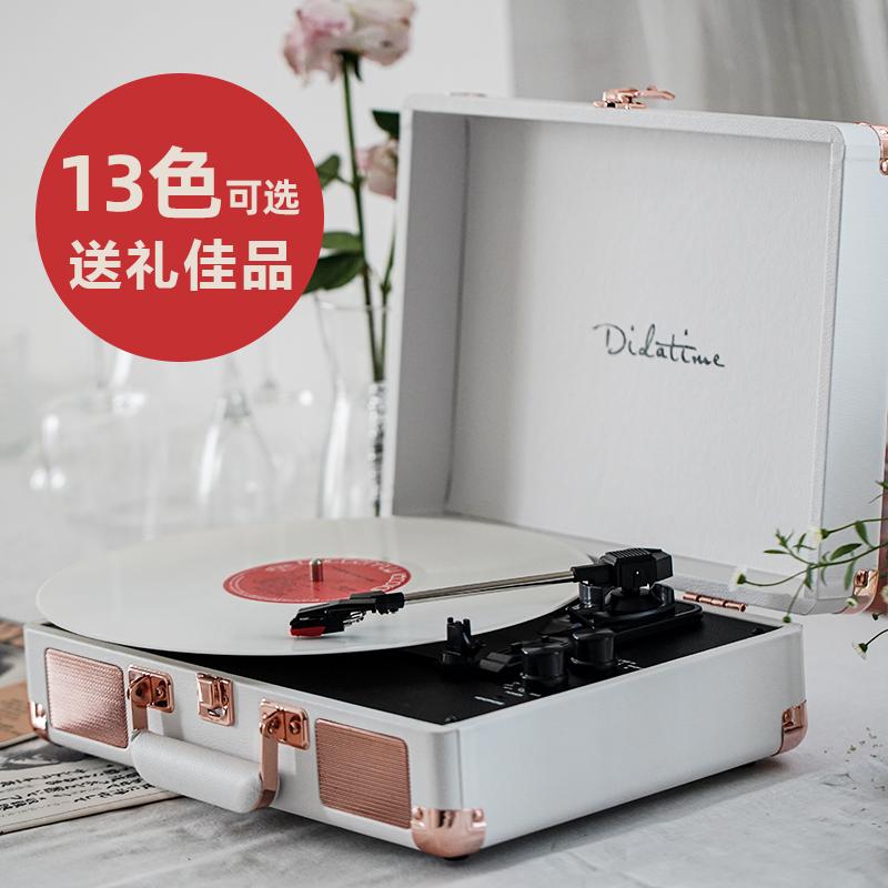 流淌时光DidatimeLP黑胶唱片机留声机复古客厅欧式电唱机蓝牙礼物 Изображение 1