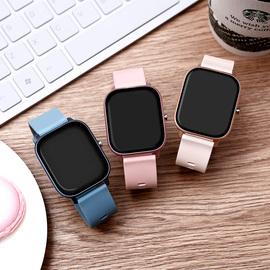智能手表女小米苹果通用测血压心率跑步计步多功能运动电子表男