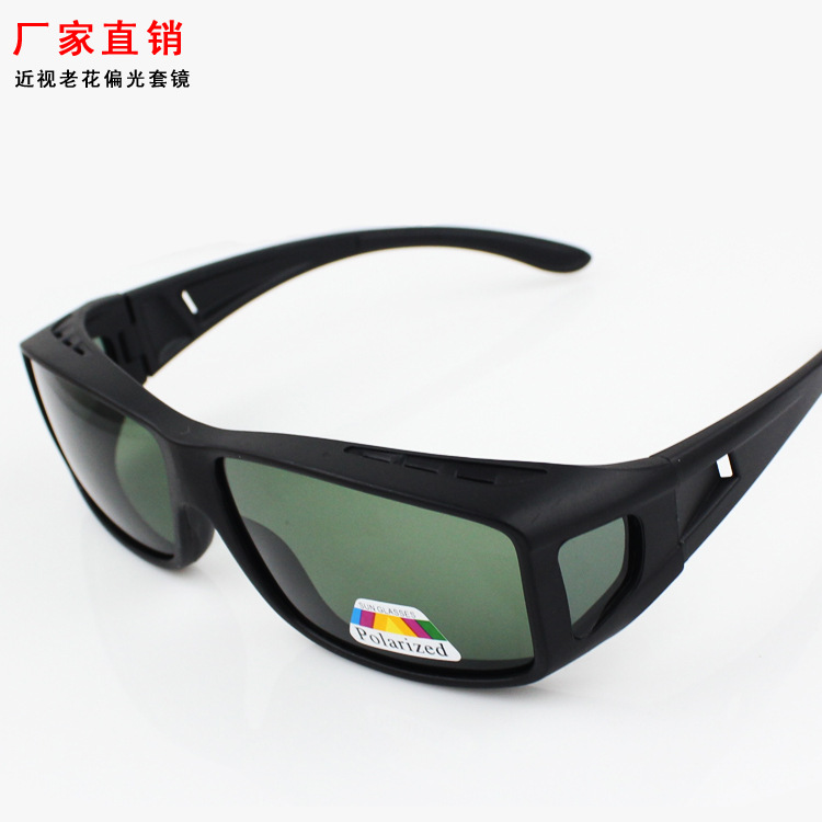 Mens and womens polarizing glasses windproof glasses nearsighted sunglasses can cover nearsighted glasses drivers polarizing driving glasses