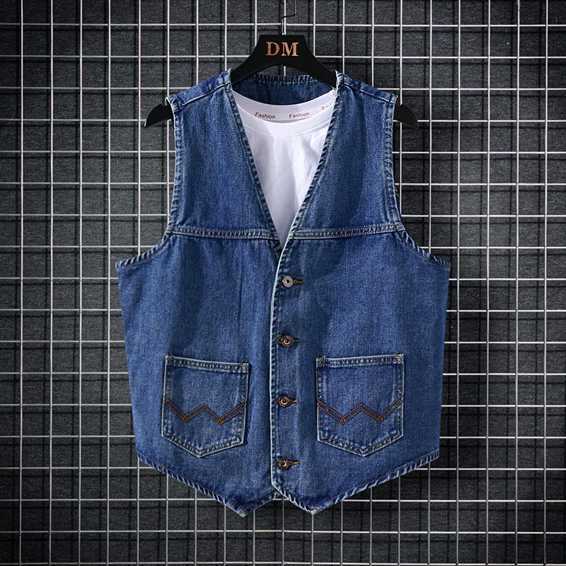 Model: 8201 ? denim vest, mens denim jacket, sleeveless vest, waistcoat and waistcoat