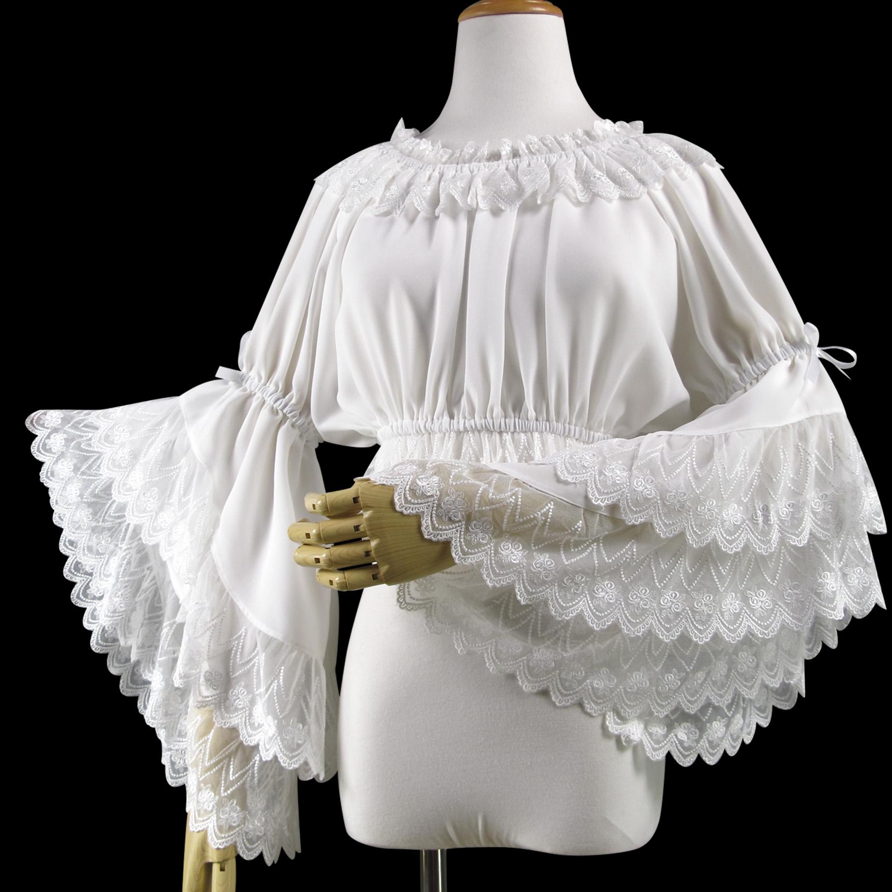 夏オリジナルのlolitaワンピースのフリルネックの華麗な姫袖jsk内にヴィンテージレースのシャツを掛けます。