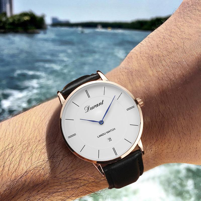 Landu Landu ultrathin automatic mechanical watch mens fashion students simple real belt 2018 new concept