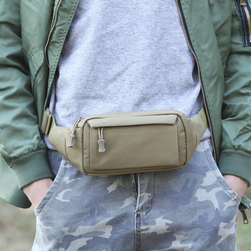 包邮户外战术腰包女跑步装备包男弹弓包