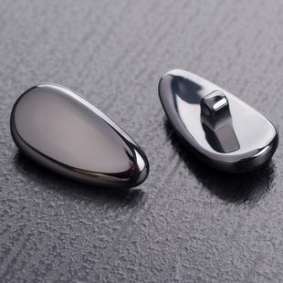 眼镜鼻托纳米陶瓷鼻托抗过敏不变色鼻托垫托叶配件送螺丝刀金色银