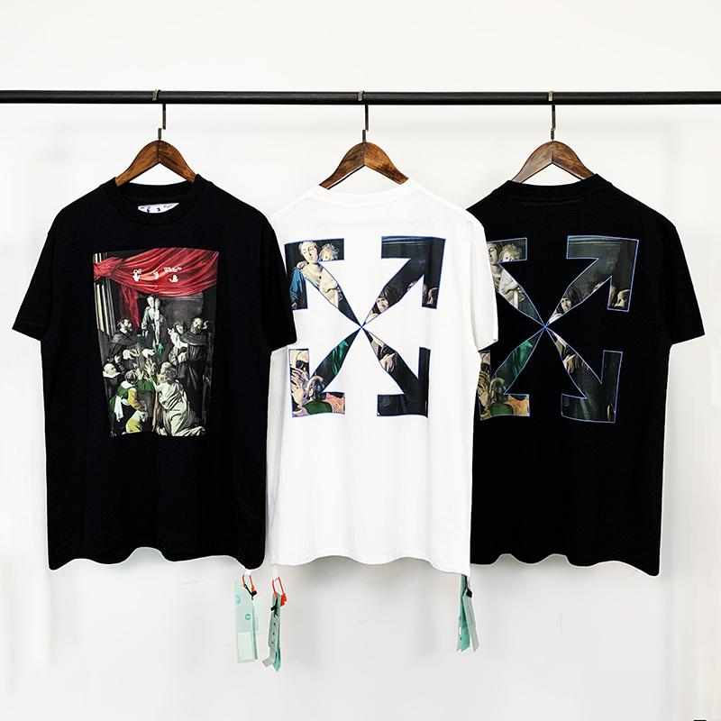 OFF-WHITE C/O VIRGIL ABLOH 20FW新款油畫箭頭宗教短袖T恤tee