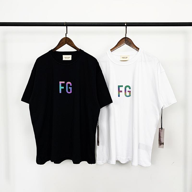 Fear Of God FOG 炫彩基础富贵FG字母LOGO圆领宽松短袖T恤