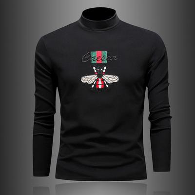 冬季 19澳绒绣花双面加绒小卫T打底衫50212/p70全年有货