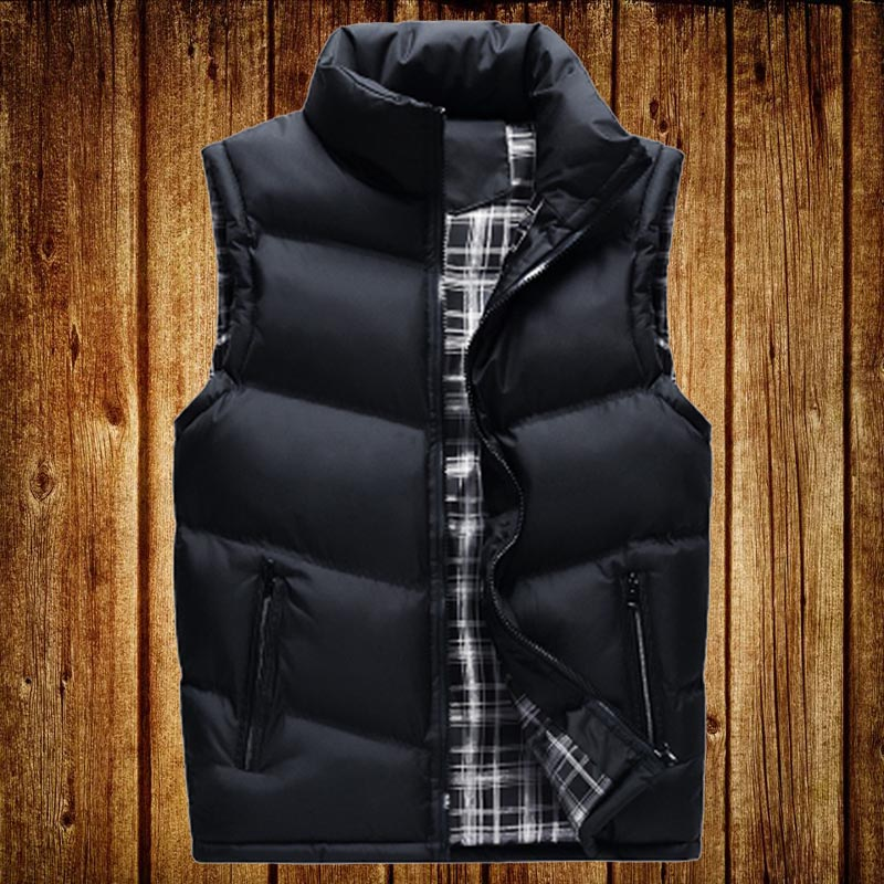 Waistcoat mens autumn and winter thickened down cotton young mens coat large size sleeveless vest Korean fashion handsome jacket