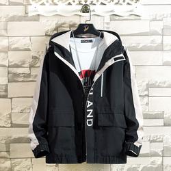 砖墙白色挂拍时尚韩版男士休闲外套夹克J74#P70