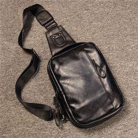 新款胸包男韩版潮流男包夏季男士单肩挎包大容量皮质休闲包手提包图片