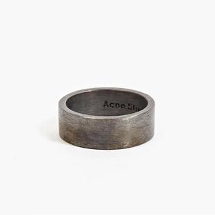 歐美潮牌復古戒指男女鈦鋼鏽鐵圓環個性單身食指尾戒嘻哈情侶飾品