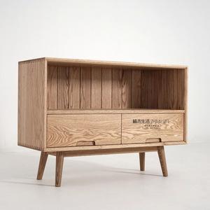 [植木生活]黑胡桃木红橡木实木原木家具北欧复古田园日式 餐边柜