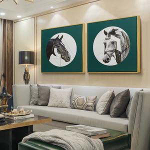欧式简约客厅沙发背景装饰画家居玄关新家轻奢软装饰品马挂画壁画