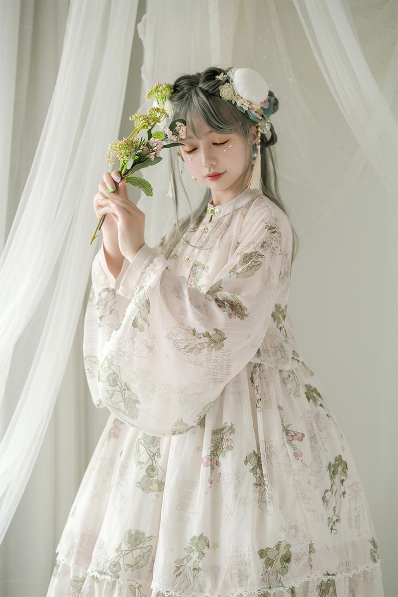 青LO【本草纲目】Lolita裙生成色切替jsk定金页面