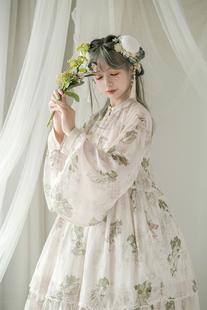 全款 现货 青Lo原创国牌Lolita可爱吊带裙 切替jsk本草纲目链接