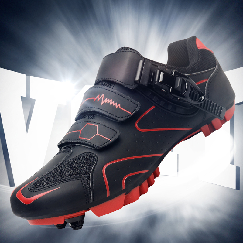 New autumn lockless power cycling shoes leisure mountain bike shoes hard soled lock shoes mens and womens bicycle shoes road bike