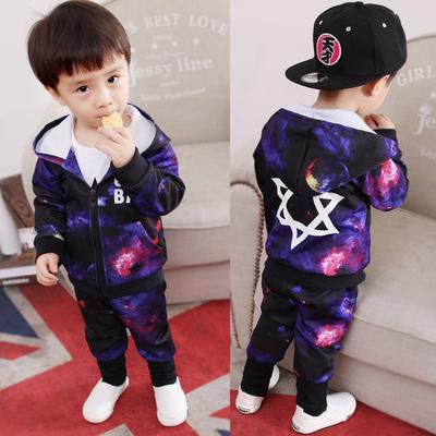 童装男童长袖套装新款女宝宝婴儿童衣服两件套1-2-3-4-5岁春秋潮