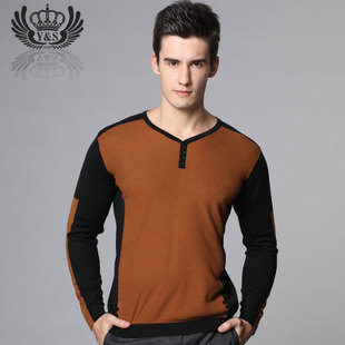 Yasar thin section 2015 Hitz men s long sleeved V neck men s casual youth bottoming shirt knitted sweaters