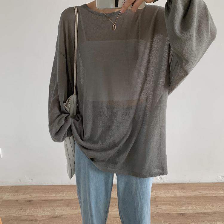 后背小心机镂空针织罩衫夏季针织衫10-27新券