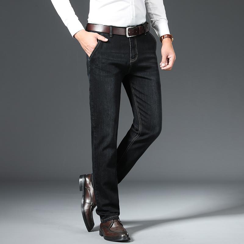 正品のビジネスジーンズの倉庫は柔らかくて男性のズボンのブランドの特価の倉庫を処理します。
