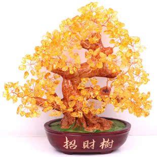 Природные цитрин дойная корова украшения изобилия топаз повезло дерево деньги дерево семьи магазин