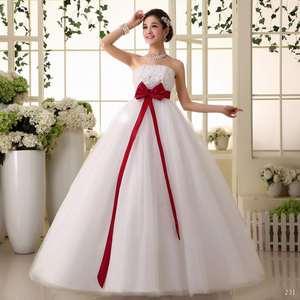 高腰齐地孕妇婚纱2019新款绑带韩式婚纱女小个子抹胸婚纱韩版大码
