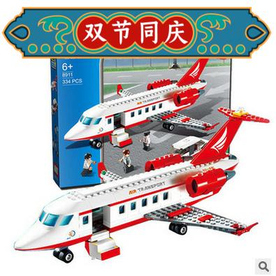 新乐新GUDI古迪航空私人飞机拼装拼插玩具积木8911男孩礼物送朋友