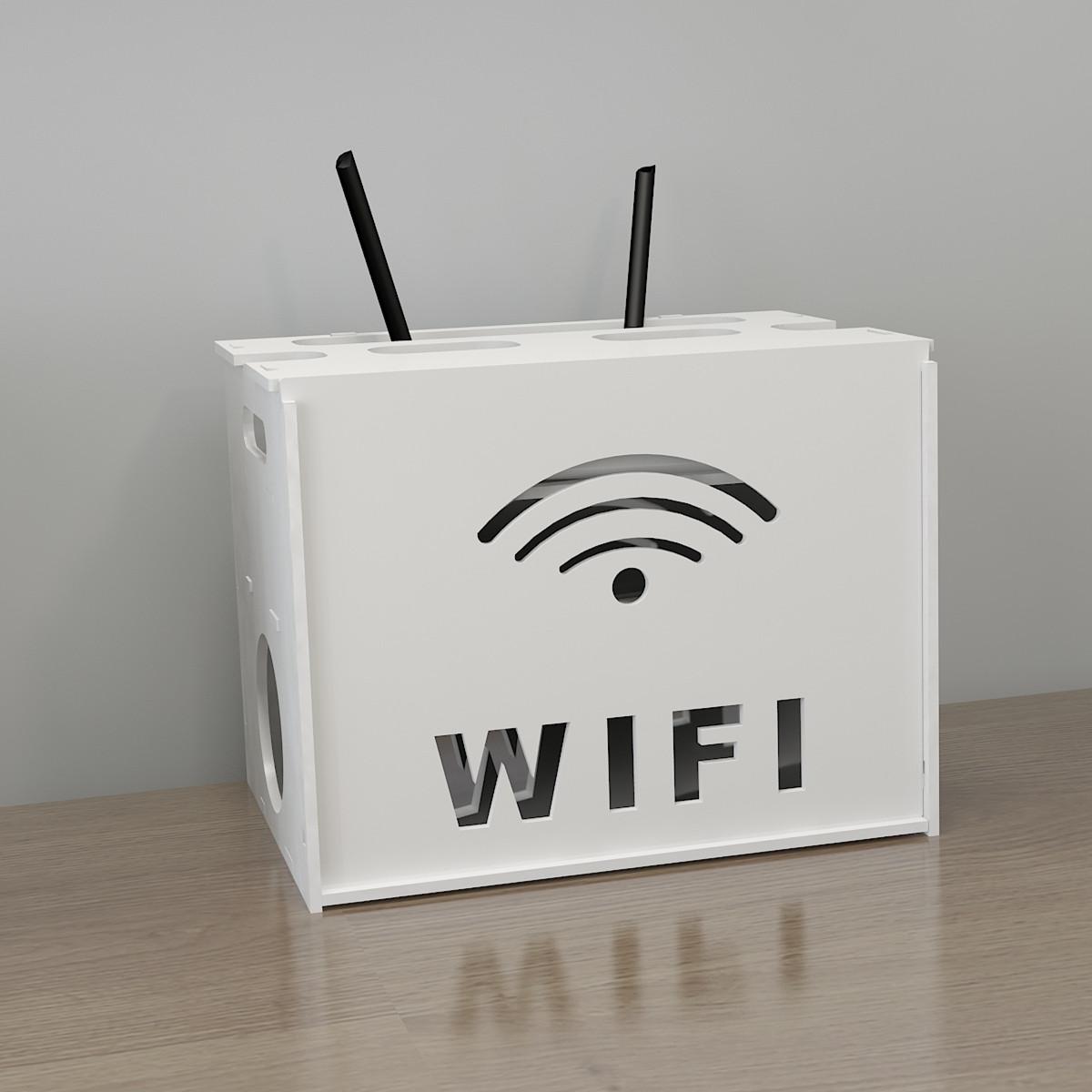 wifi收纳盒机顶盒路由器收纳盒安全透气电线插排插座modem猫收藏