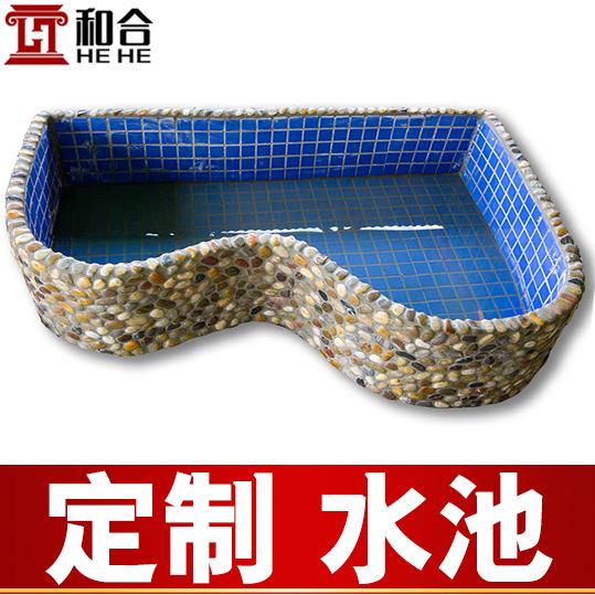 定制 鱼池 假山流水摆件喷泉 阳台别墅花园客厅水景鱼缸龟池水池