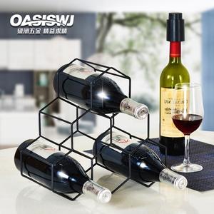 欧式金属红酒架摆件创意葡萄酒洋酒架子家用客厅酒柜展示现代简约