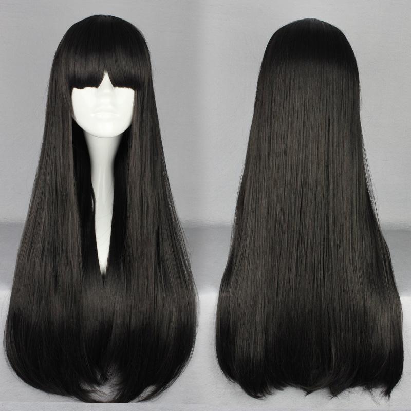 КОСЕР японский Лолита Лолита Harajuku Парики парик длинные черные работодатель электронной почты