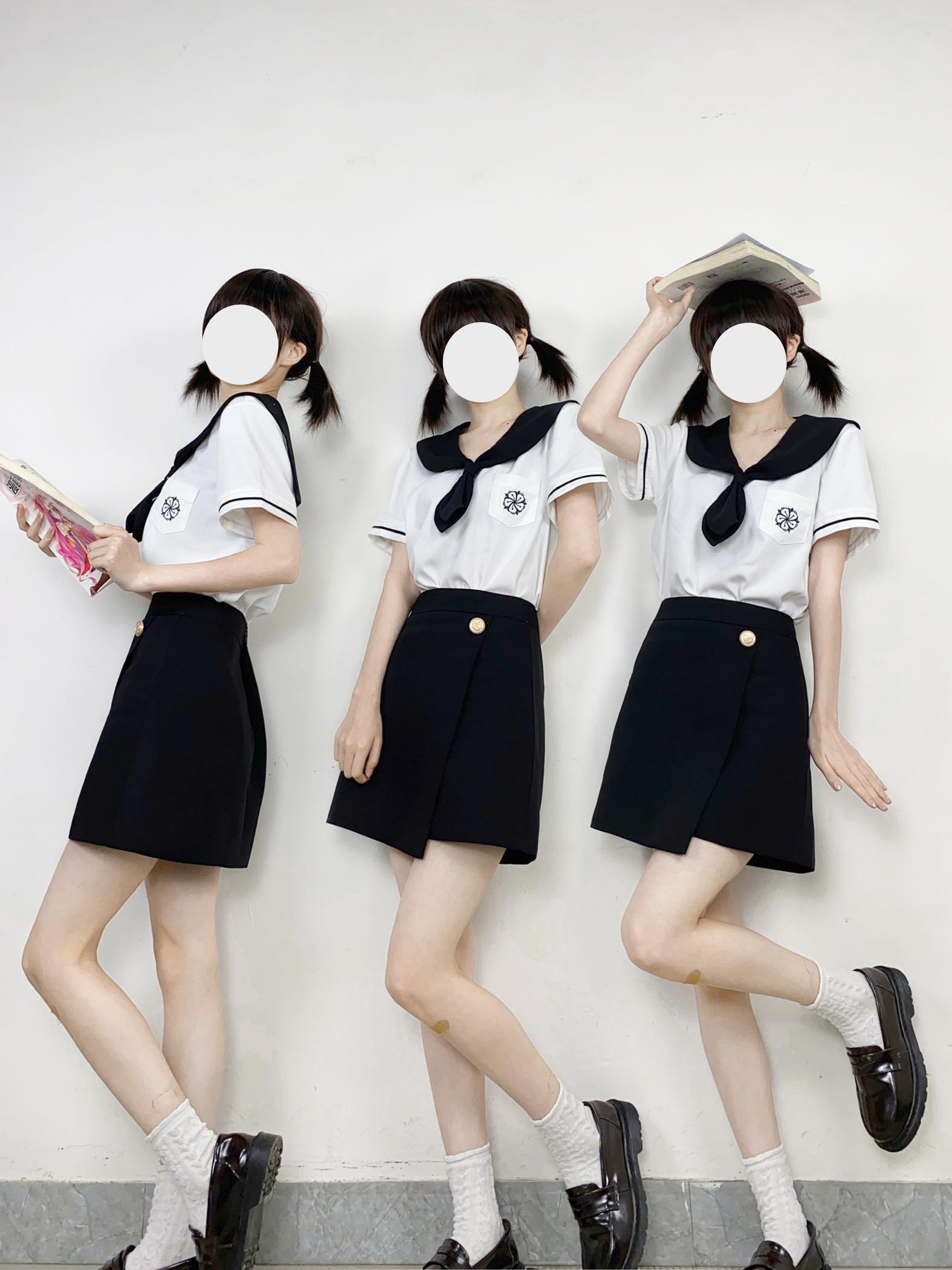 千木JK制服【雅凛女子】三团韩式制服半身裙包臀裙全款套装
