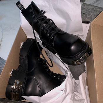 封帆同款ins马丁靴冬季2020机车靴