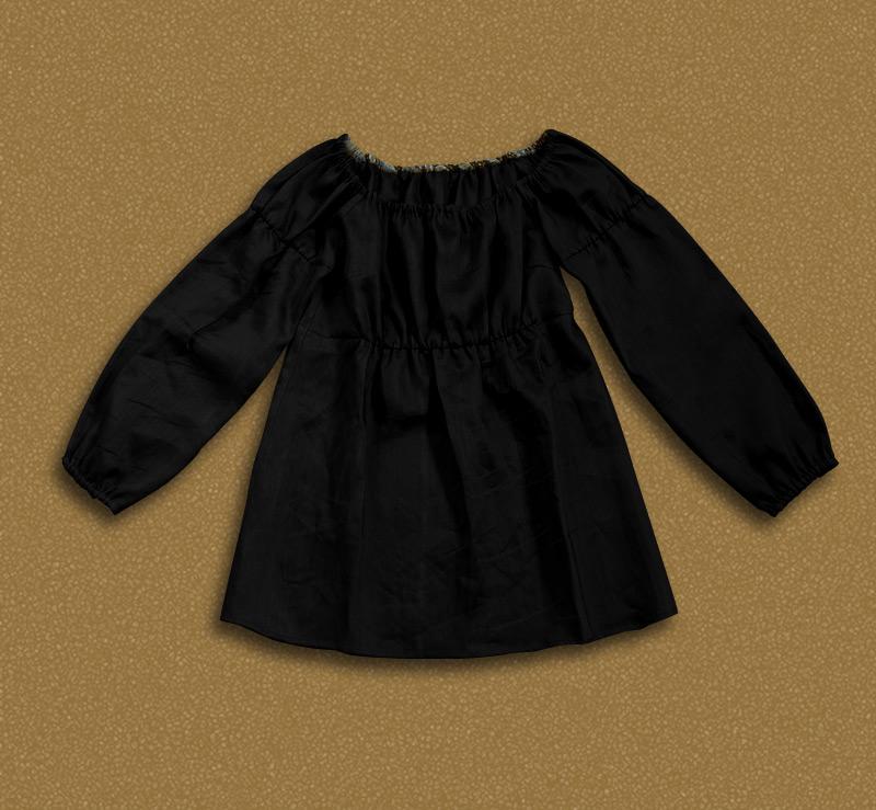Original brand design womens exclusive haute couture linen long sleeve Mori womens Japanese doll shirt D2c
