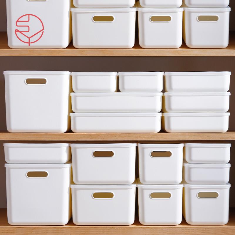 日本霜山桌面收纳盒带盖衣物收纳箱(用1元券)