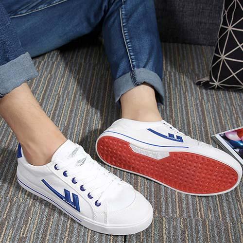Вернуть силу обувь женская квартира холст обувь студент обувь корейский досуг квартира спортивной обуви пара небольших белые туфли мужчина