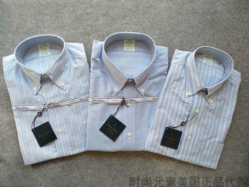 美国brooksbrothers布克兄弟MILANO版绿标修身舒比马棉免烫衬衫