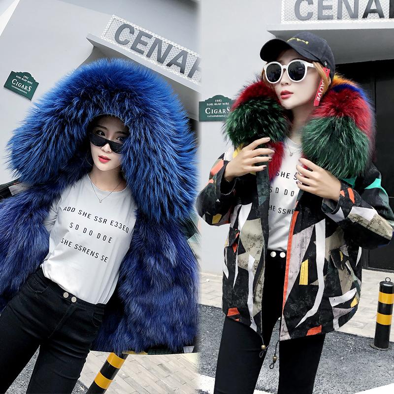 Новая коллекция Преодоление женщин короткий мех лисы футеровка шуба куртка пальто Вы от звезд фасон унисекс короткий Женщина