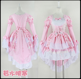 Love Angel dress ultra princess lolita gorgeous pink princess dress dovetail maid service maid costumes