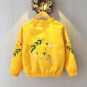 领3元券购买女童春装2019新款韩版上衣儿童中大童春秋洋气网红外套时尚夹克潮