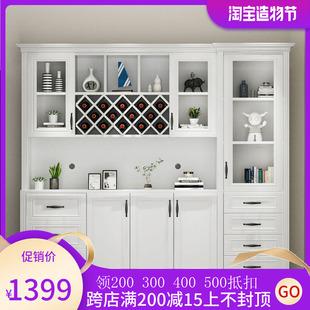 现代简约家用餐厅简欧饭厅酒柜靠墙客厅柜子定制餐边柜子整体欧式价格