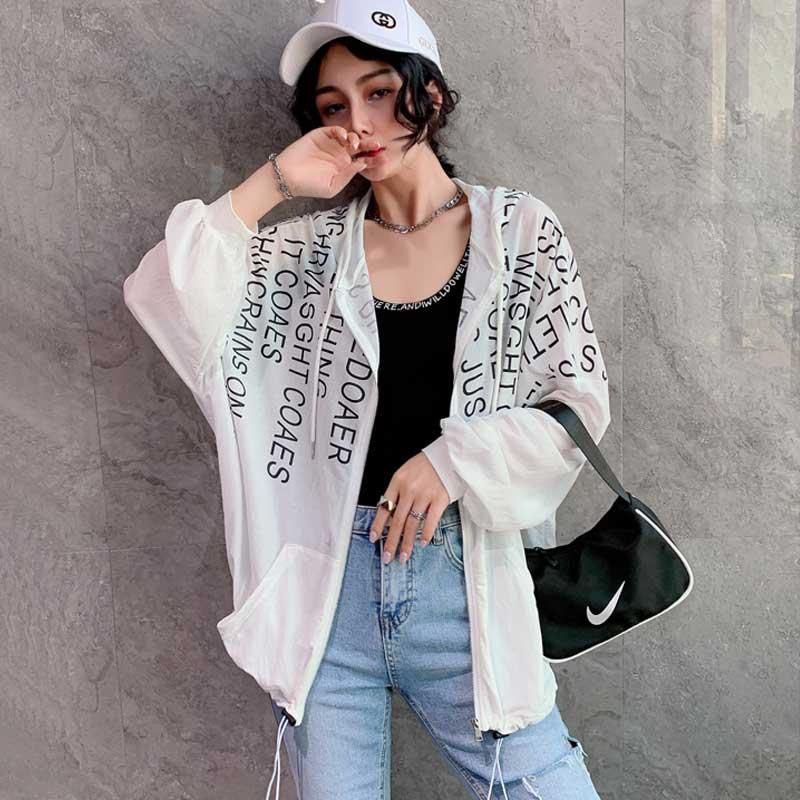 网红ins超火防晒外套女2020夏装新款网纱上衣防紫外线冰丝空调衫