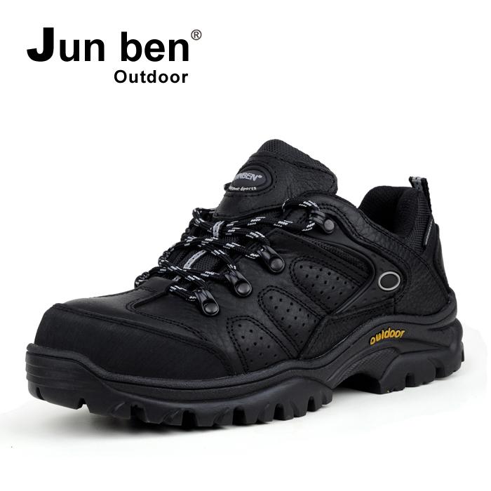 Июнь ? «?» водонепроницаемый дышащий non-slip износа Пешие прогулки обувь, мужская обувь Весна и осенние сезоны кожа ходьбы обувь Открытый обуви