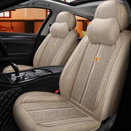 新款汽车坐垫套全包围座套四季通用荞麦壳座椅套亚麻布艺透气座垫