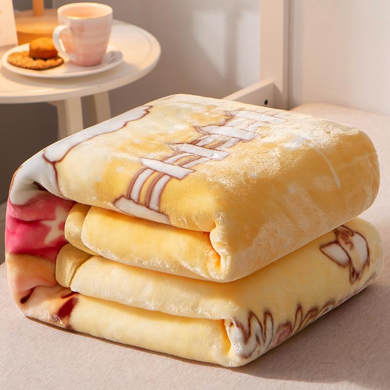 毛毯双层秋冬季新生宝宝珊瑚绒毯子