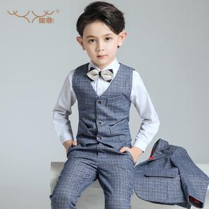 男童礼服儿童西装套装钢琴演出马甲